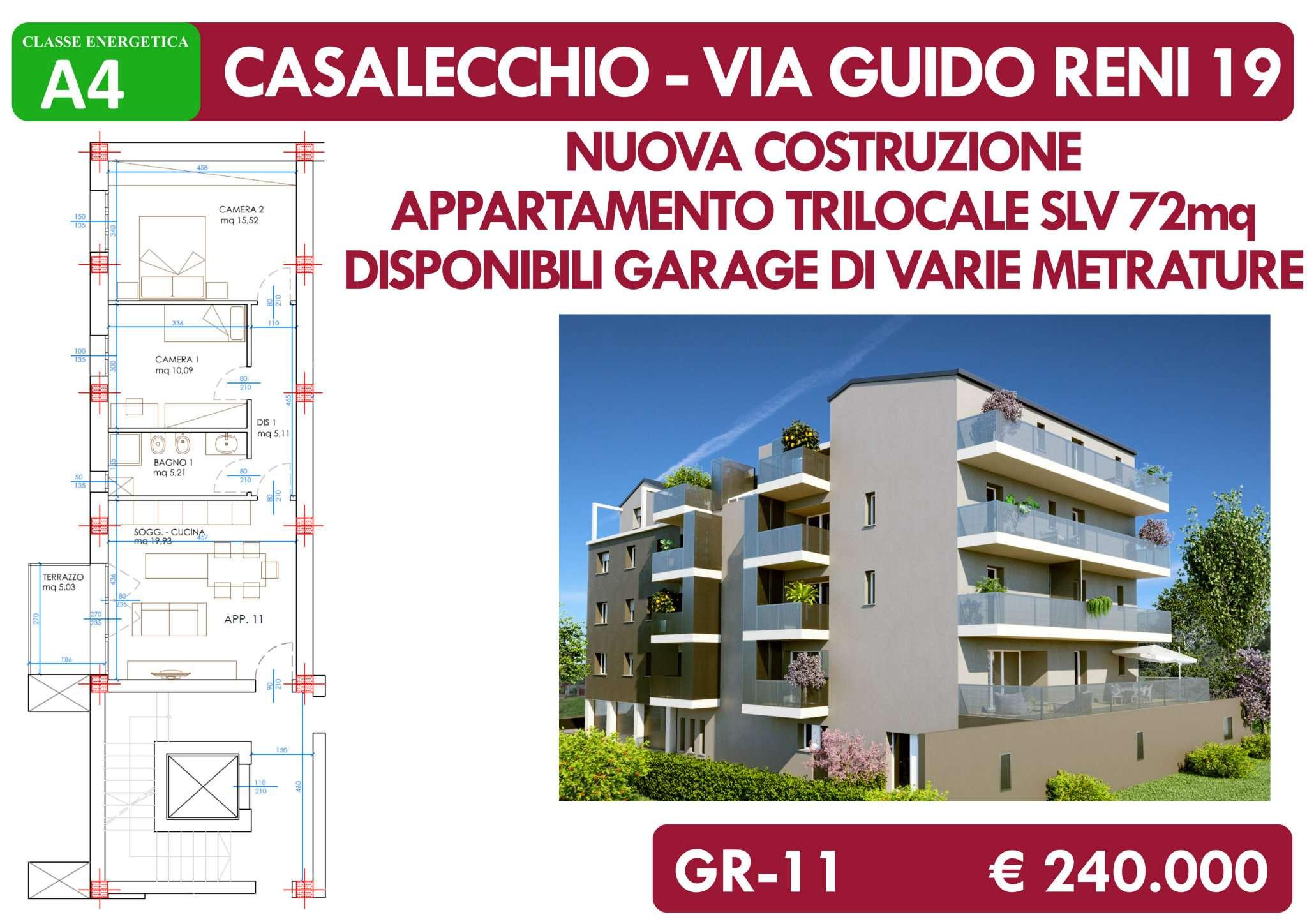 Appartamento in vendita a Casalecchio di Reno, 3 locali, prezzo € 240.000 | CambioCasa.it