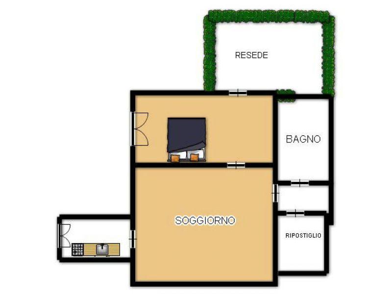 Appartamento in buone condizioni arredato in affitto Rif. 7376517