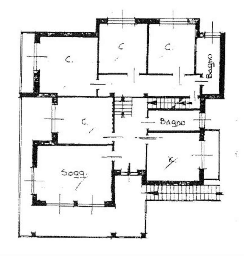 Pianta piano 1° Appartamento 3