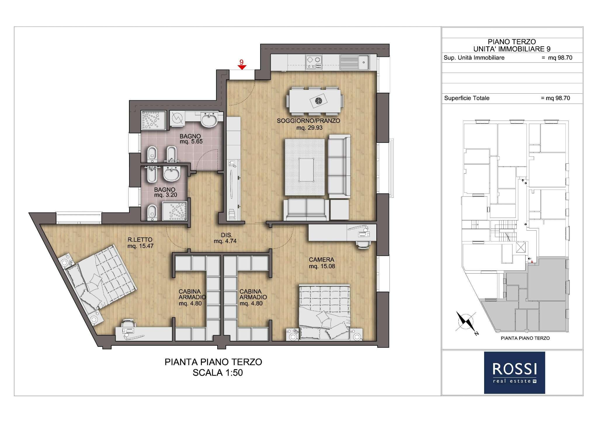 Pianta Camera Da Letto Matrimoniale : Annunci immobiliari inserzionista rossi real estate sas di rimini