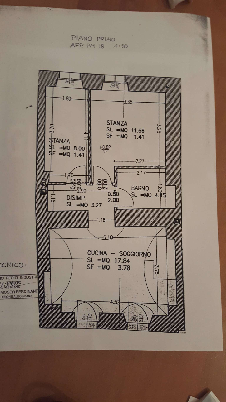 MEZZOLOMBARDO centro storico appartamento ristrutturato con 2 stanze