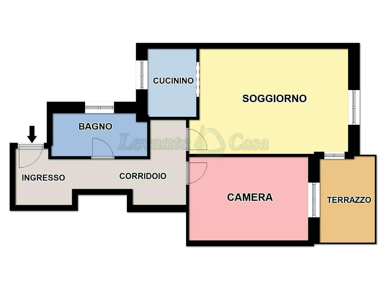 Appartamento in vendita a Recco, 3 locali, prezzo € 109.000 | PortaleAgenzieImmobiliari.it