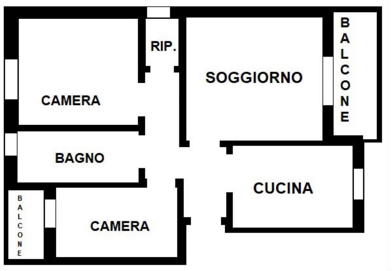 Appartamento in discrete condizioni in affitto Rif. 7122520