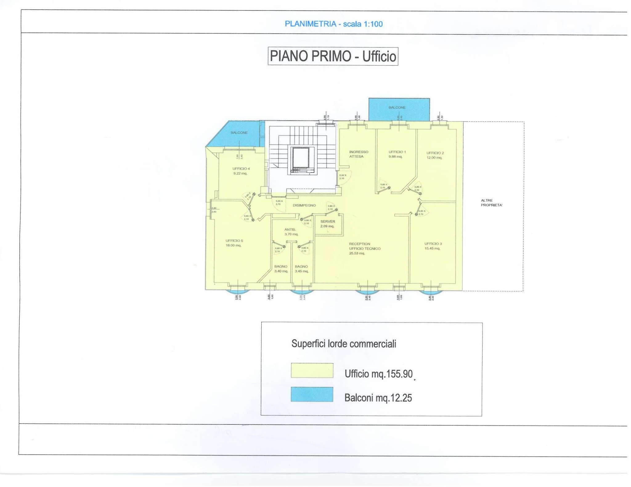 Ufficio 160 mq. in vendita/locazione a Sondrio