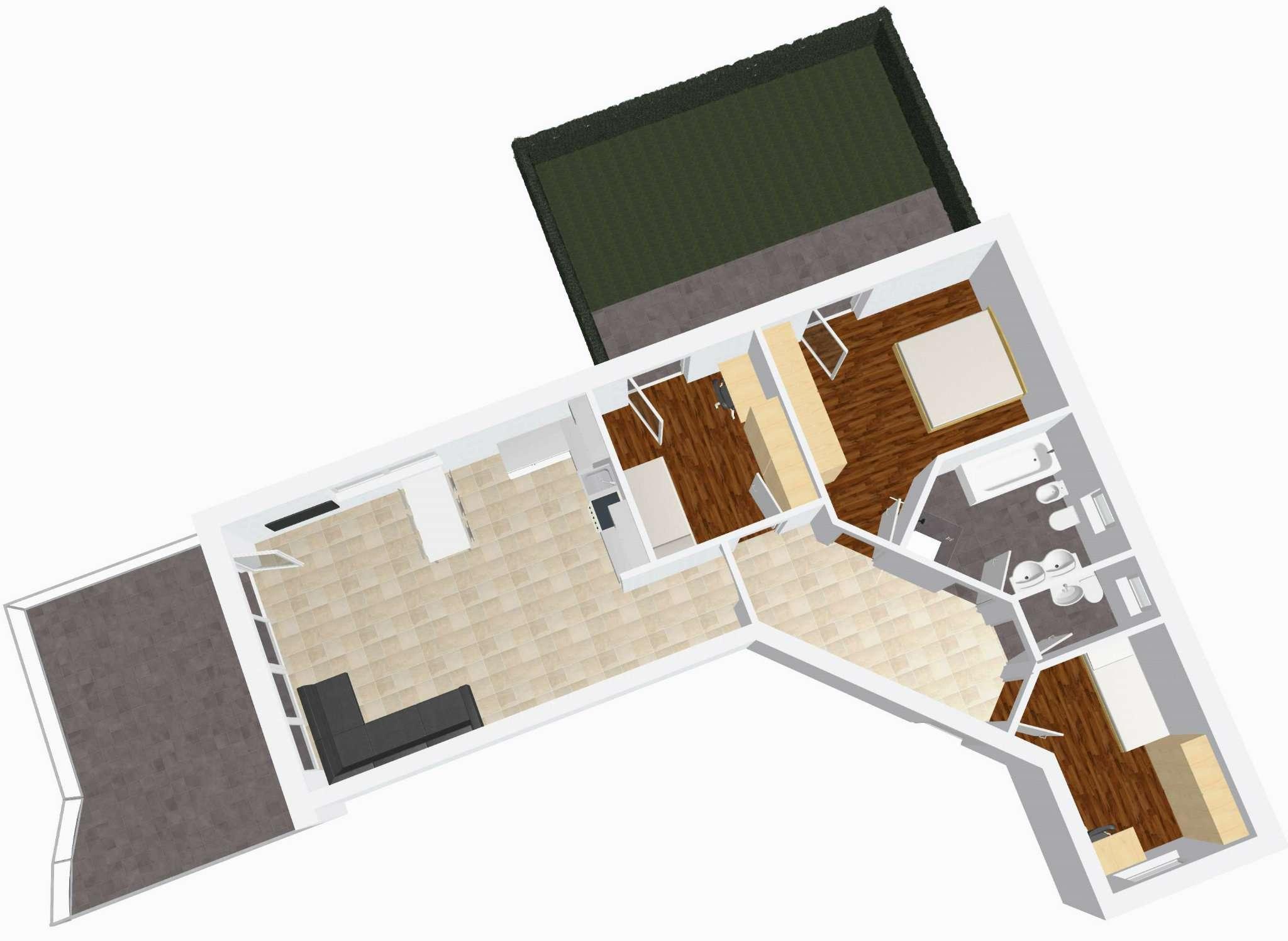 Nuovo quadrilocale con giardino e terrazza