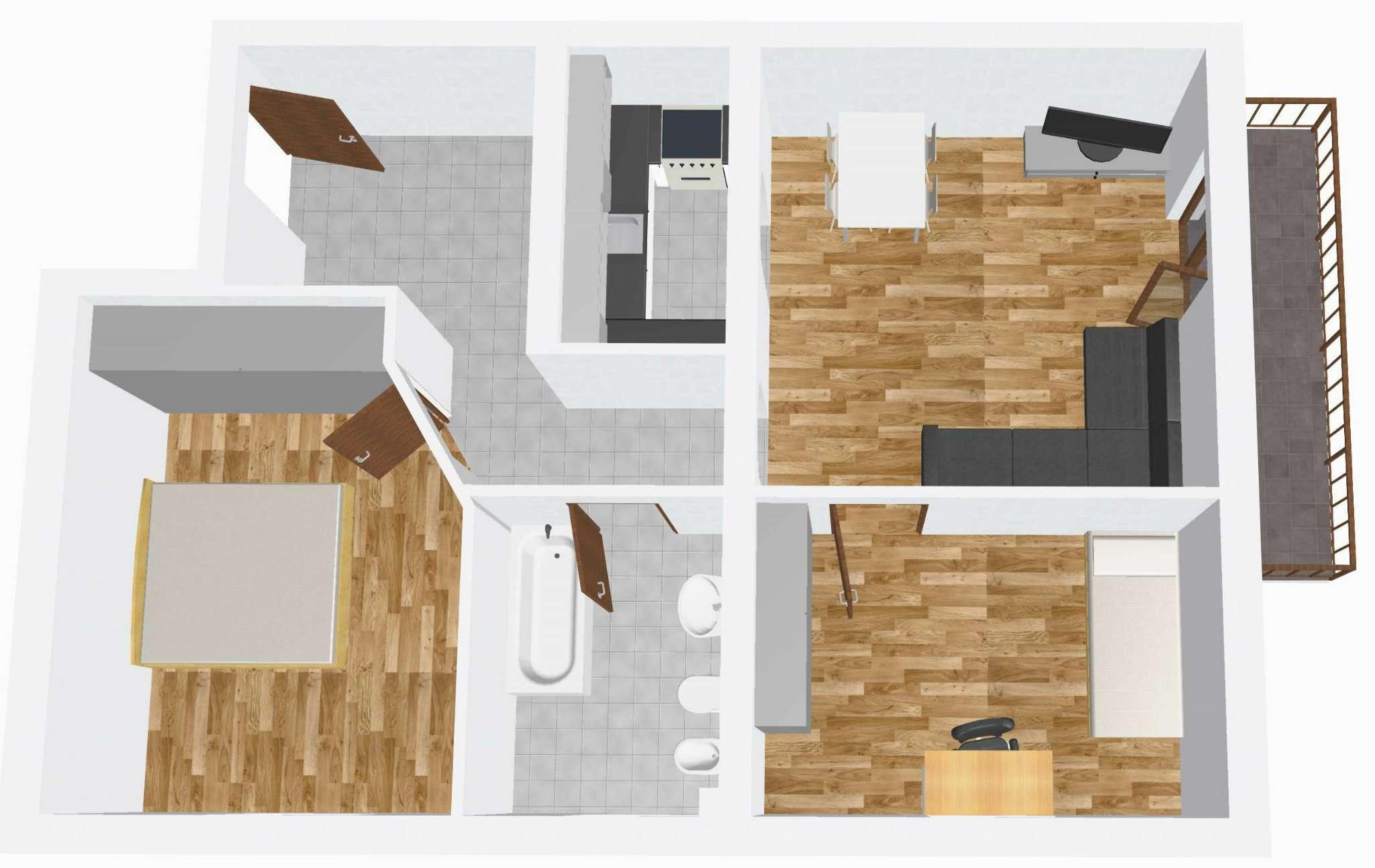 Appartamento soleggiato con vista libera