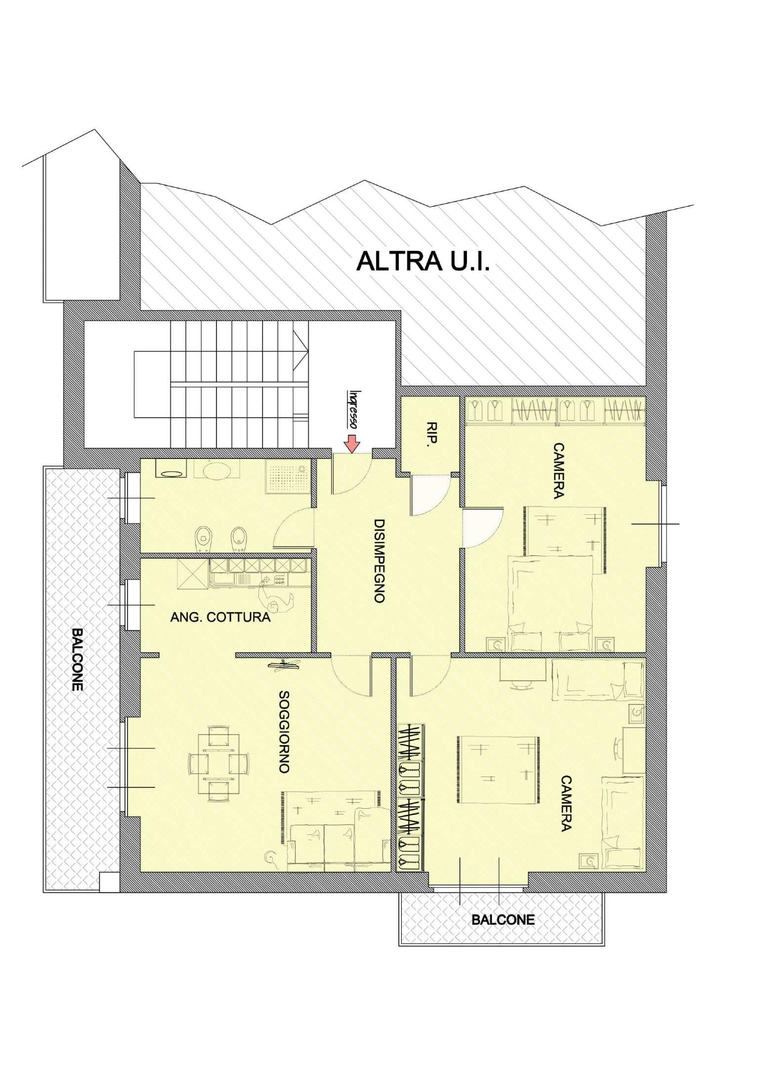 Appartamento da ristrutturare in vendita Rif. 6392327