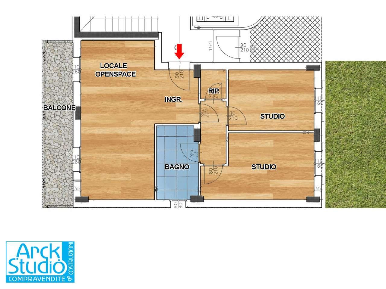 Ufficio / Studio in vendita a Inzago, 3 locali, prezzo € 204.000 | CambioCasa.it