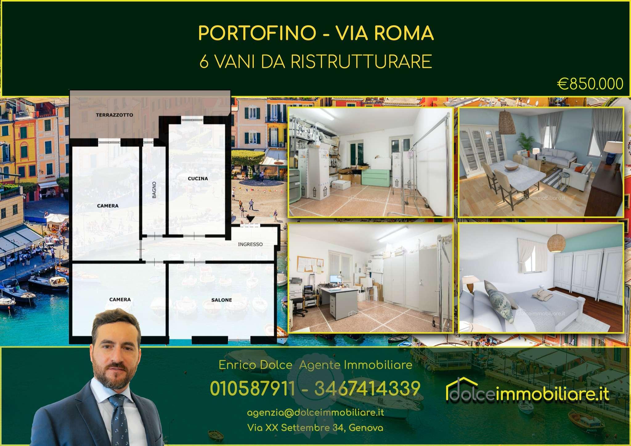 Appartamento in vendita a Portofino, 4 locali, prezzo € 850.000   CambioCasa.it