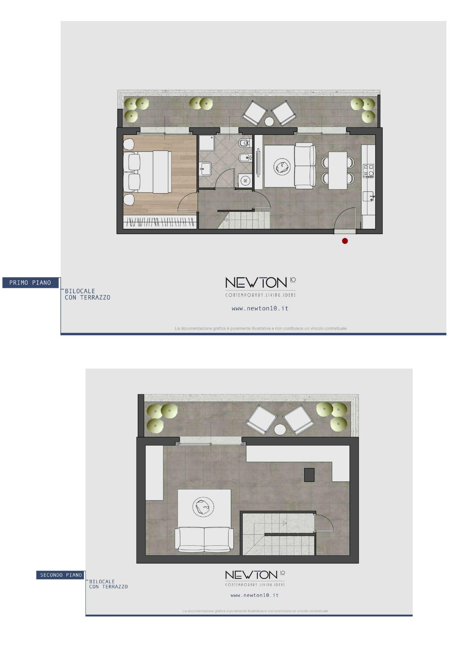 Planimetria appartamentoVia Newton 20148
