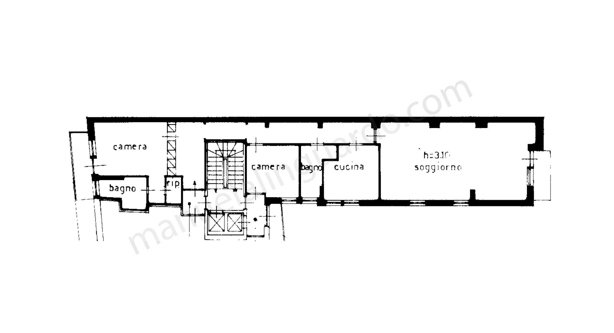 Planimetria appartamentoPiazza Sant'Erasmo  20121
