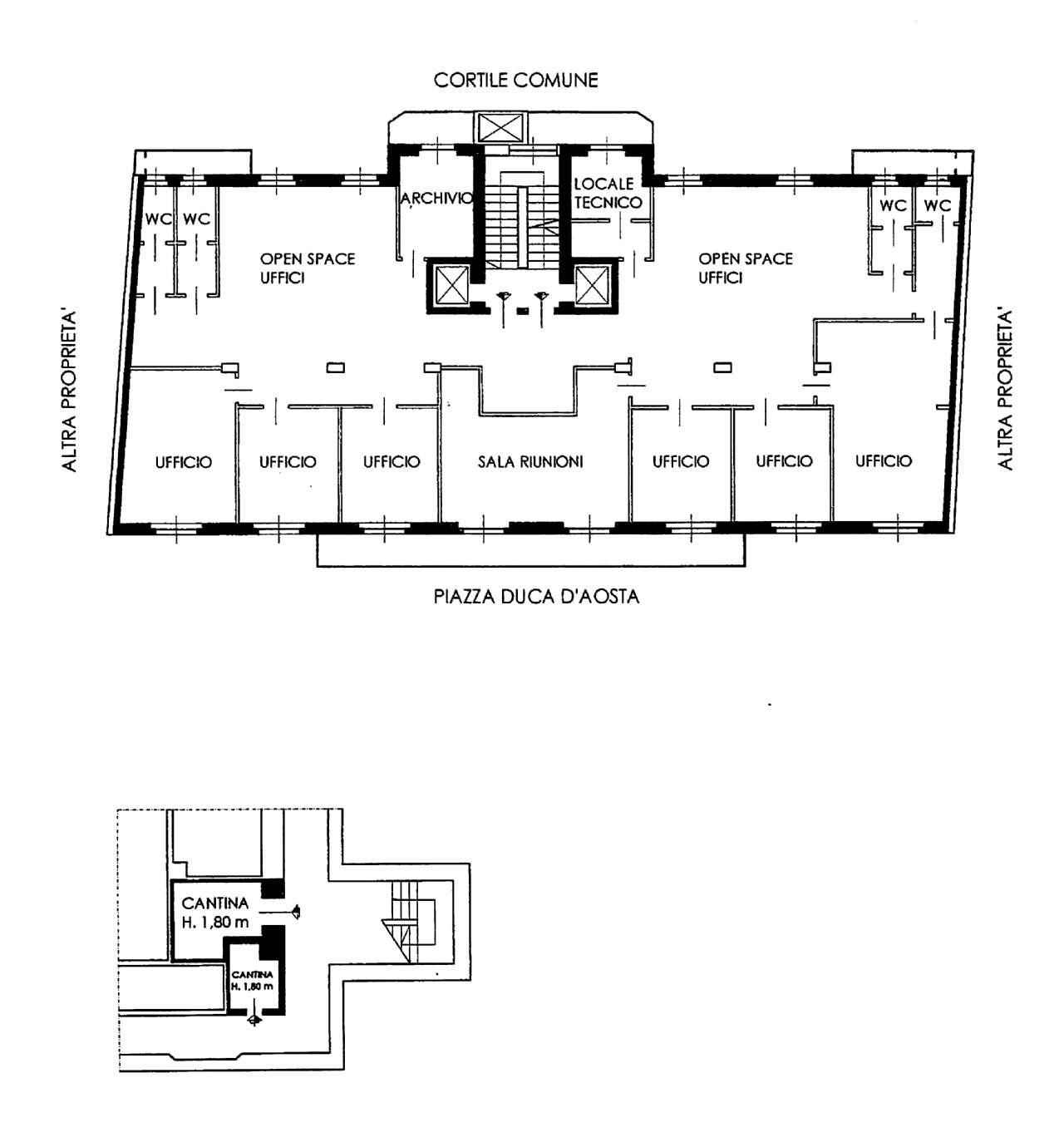 Planimetria appartamentoPiazza Duca D'aosta 20125