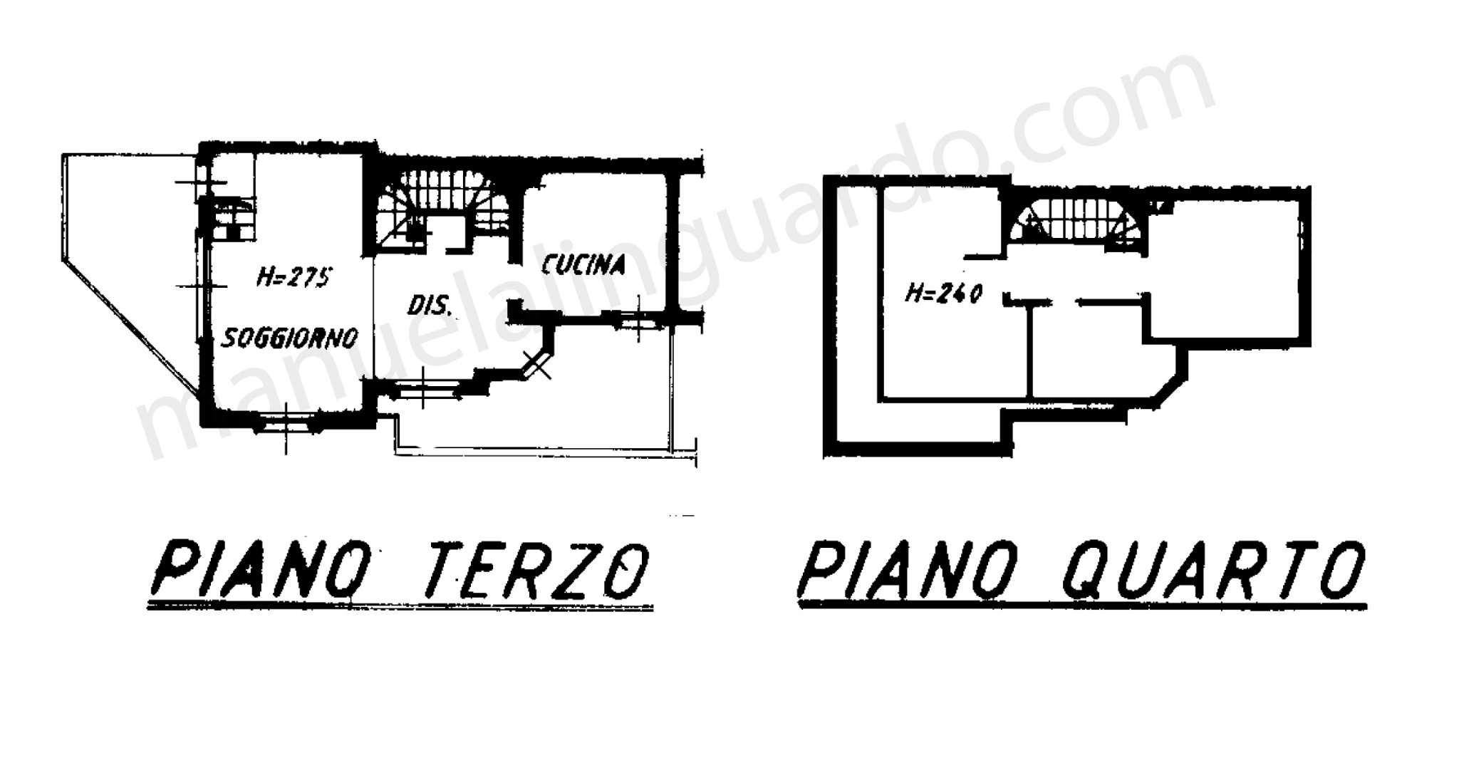 Planimetria appartamentoVia Borgonuovo 20121