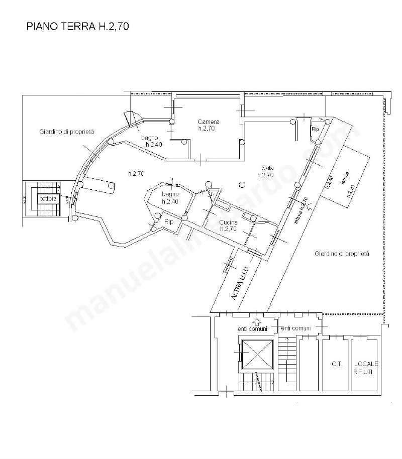 Planimetria appartamentoVia Santa Lucia 20122