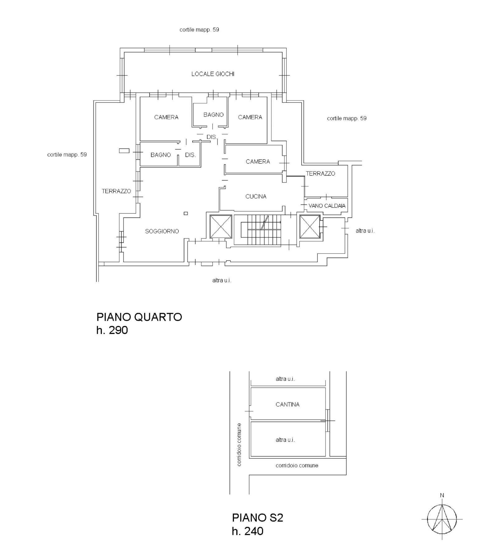 Planimetria appartamentoVia Pinerolo 20151