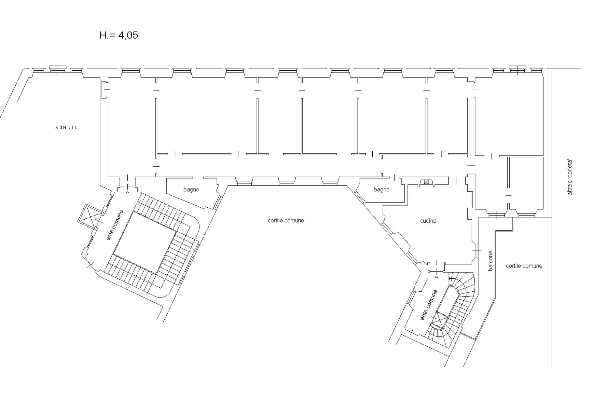 Planimetria appartamento Via Pagano