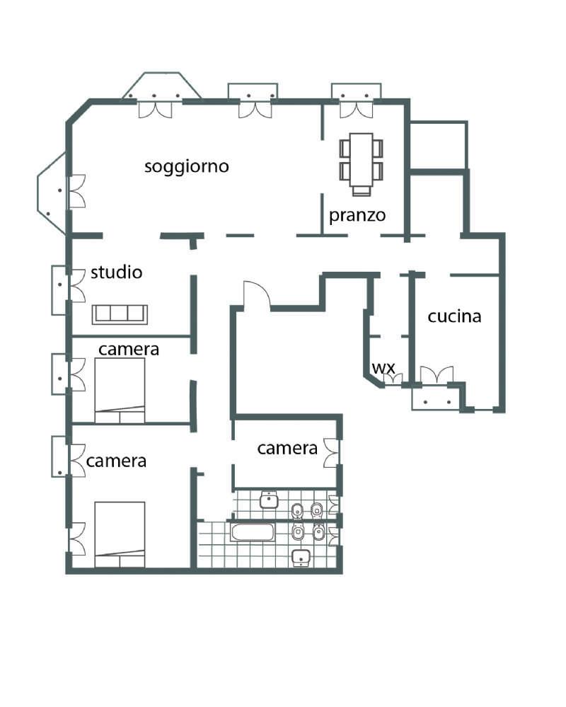 Planimetria appartamentoVia Settembrini 20124