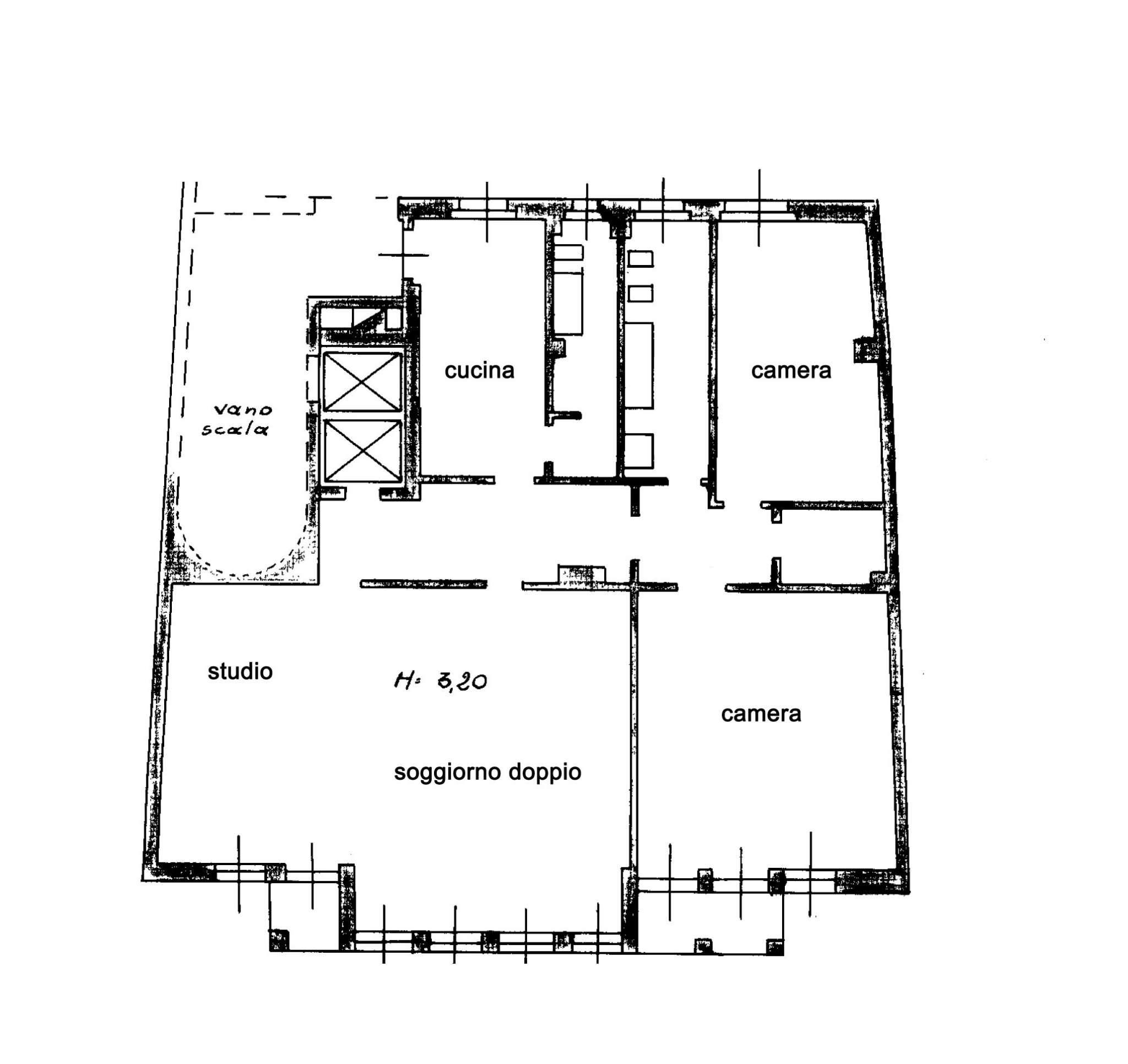 Planimetria appartamentoVia San Giovanni Sul Muro 20121