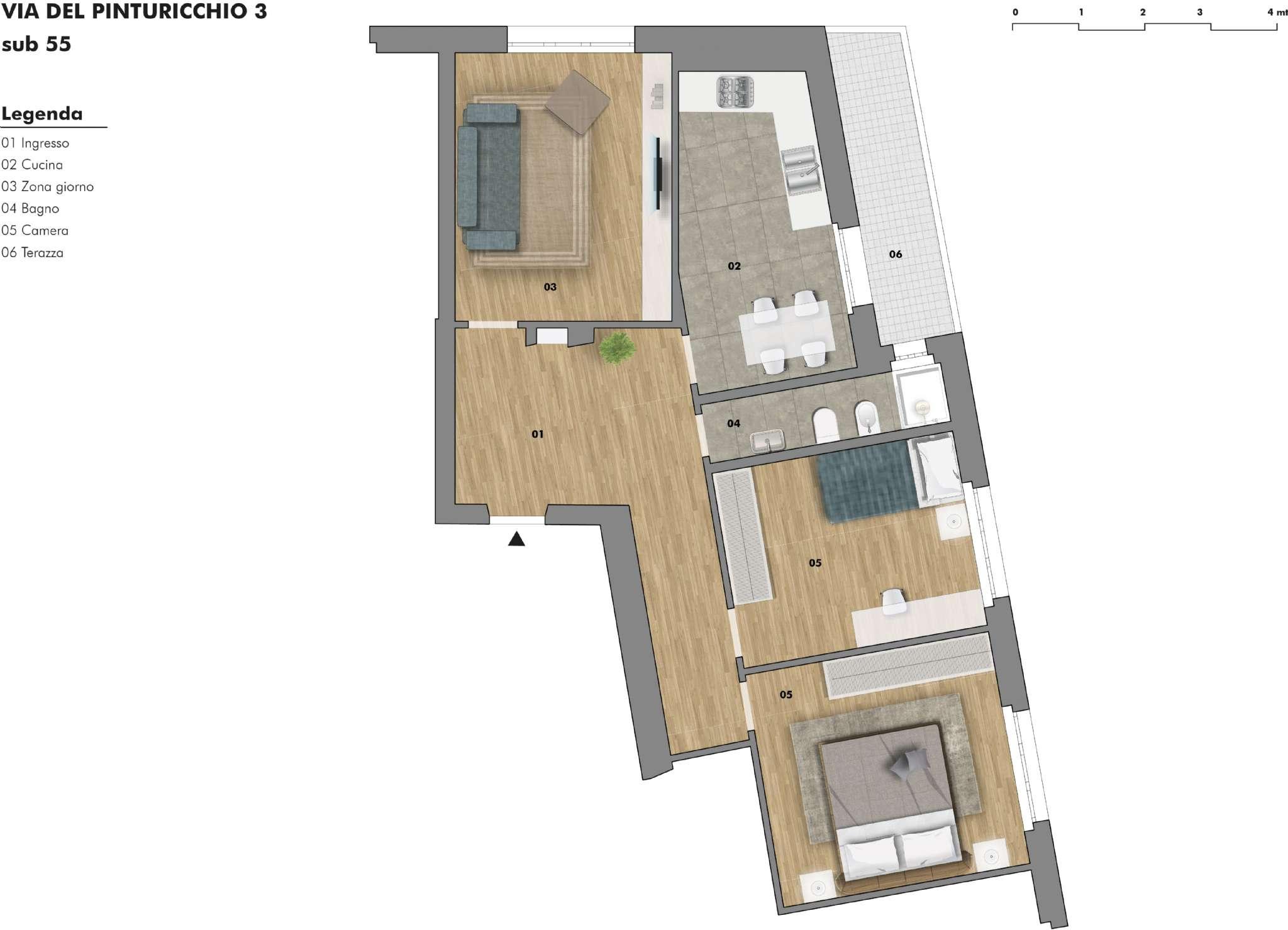 Appartamento in vendita a Trieste, 3 locali, prezzo € 96.000 | CambioCasa.it