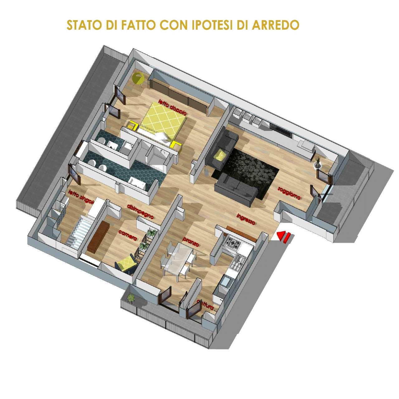 Appartamento in discrete condizioni arredato in vendita Rif. 7270906