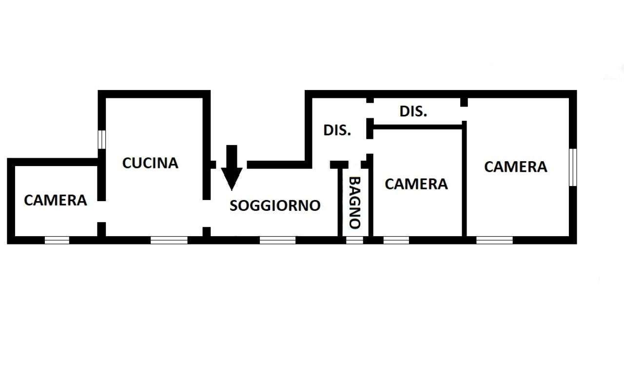Appartamento in vendita a Firenze, 5 locali, zona Zona: 12 . Duomo, Oltrarno, Centro Storico, Santa Croce, S. Spirito, Giardino di Boboli, prezzo € 360.000 | CambioCasa.it