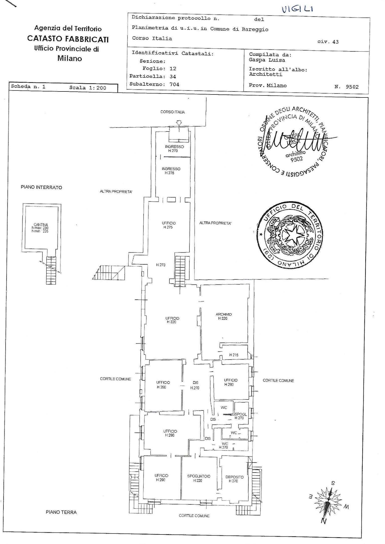 Ufficio / Studio in vendita a Bareggio, 10 locali, prezzo € 385.000   PortaleAgenzieImmobiliari.it