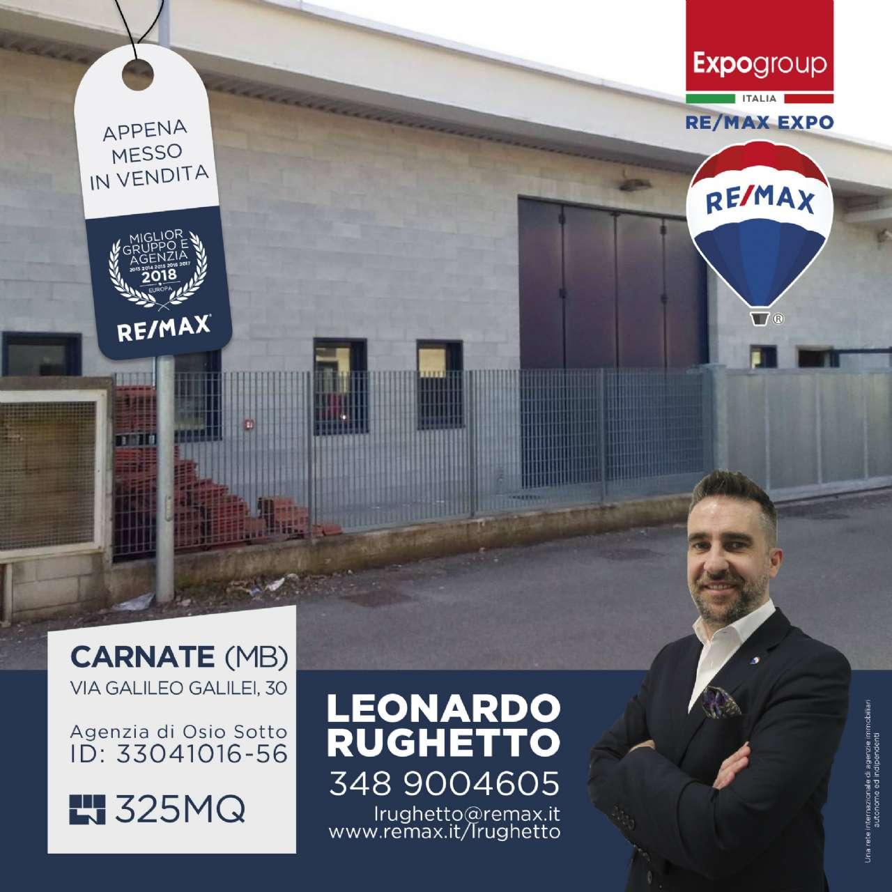 Capannone in vendita a Carnate, 1 locali, prezzo € 218.000 | CambioCasa.it