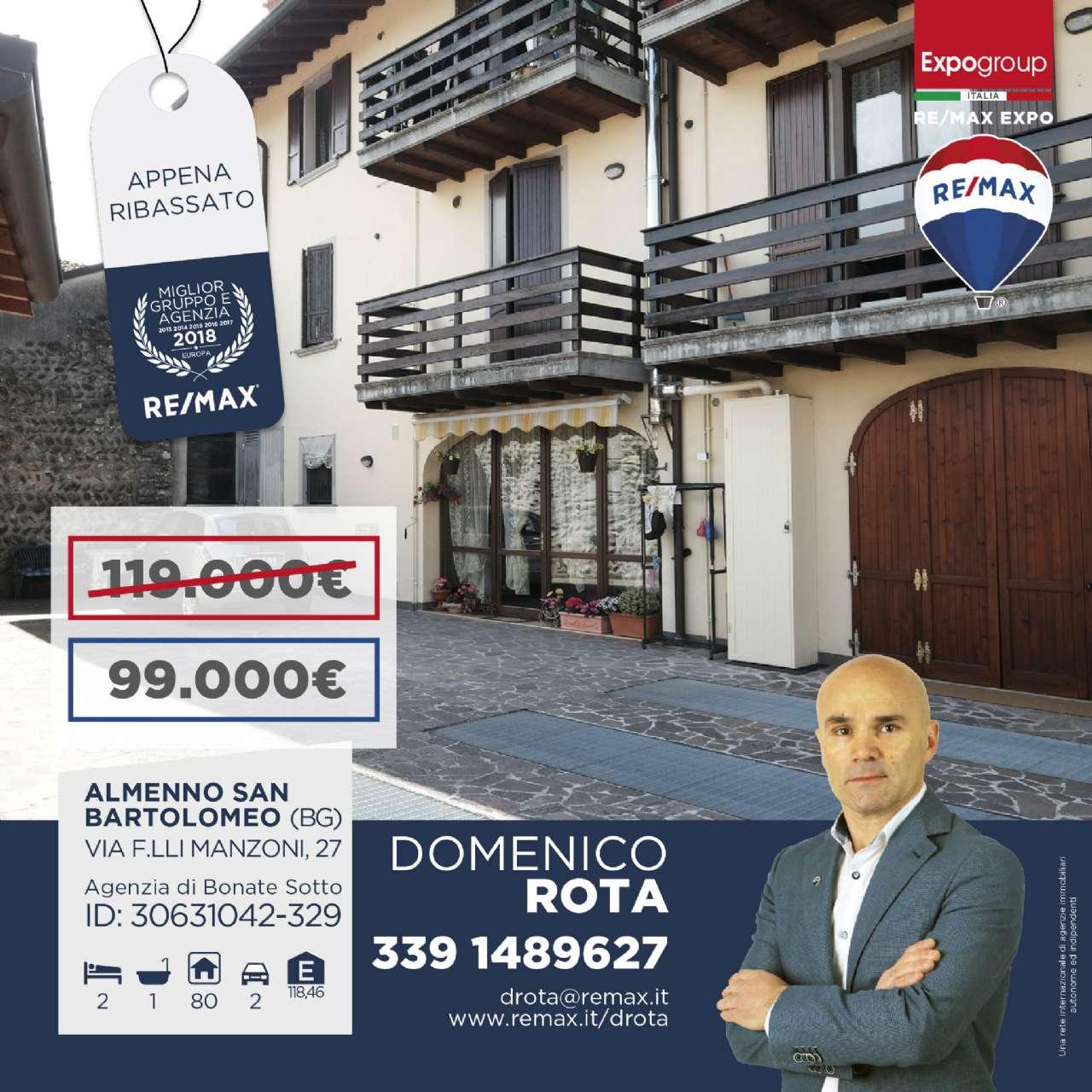 Appartamento in affitto a Almenno San Bartolomeo, 3 locali, prezzo € 580 | PortaleAgenzieImmobiliari.it