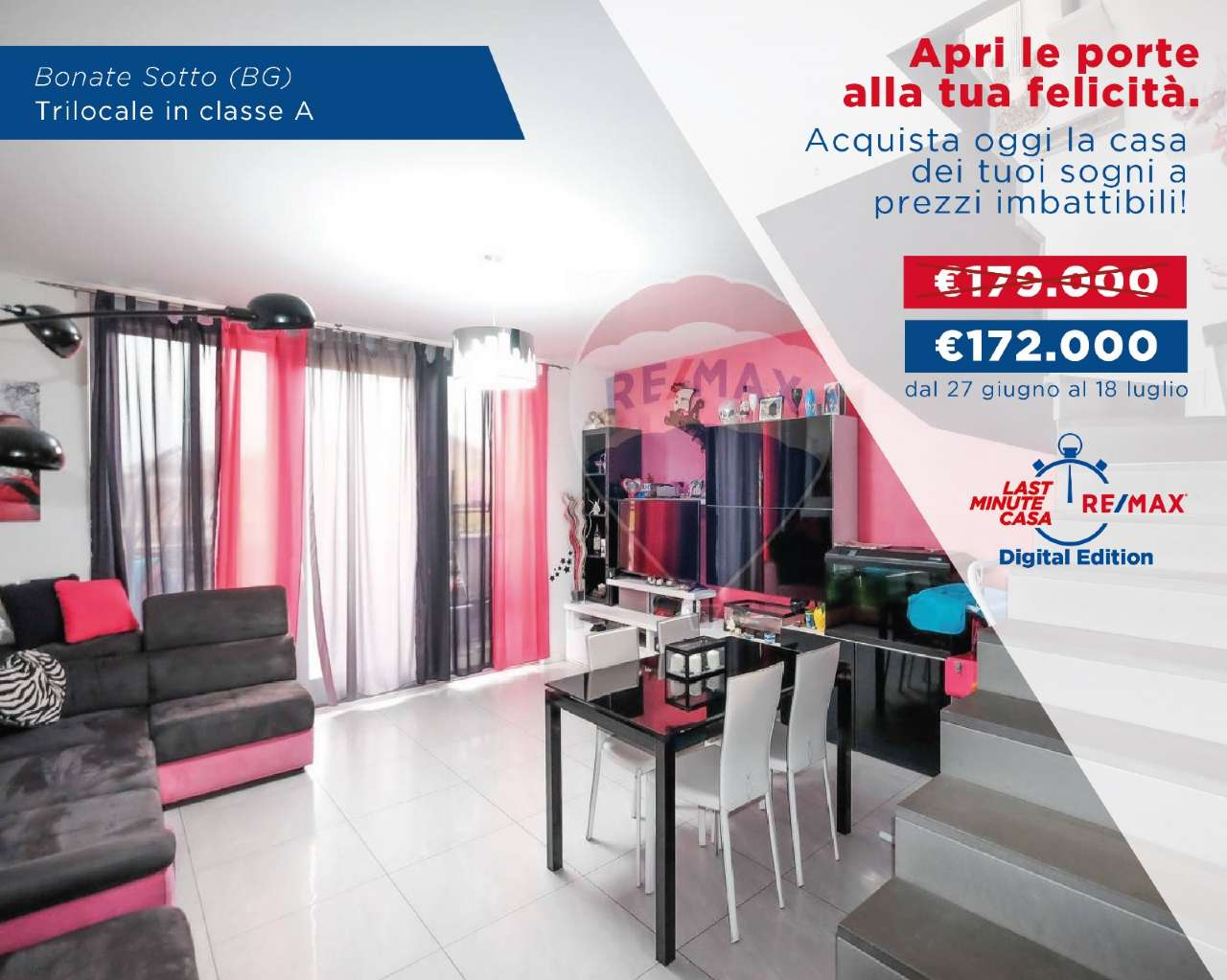 Appartamento in vendita a Bonate Sotto, 3 locali, prezzo € 172.000   CambioCasa.it