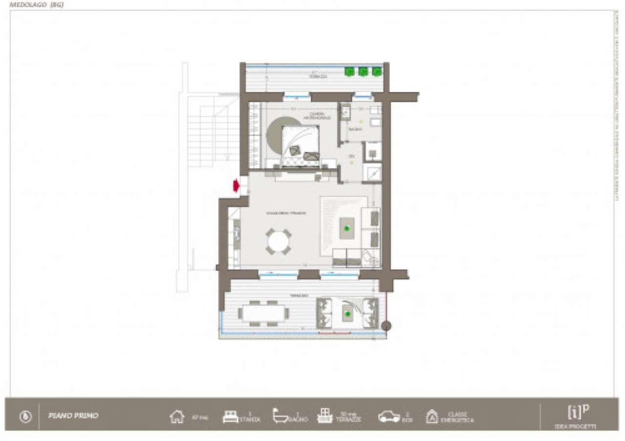 Appartamento in vendita a Medolago, 2 locali, prezzo € 65.000   PortaleAgenzieImmobiliari.it