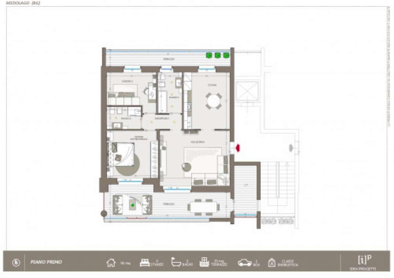 Appartamento in vendita a Medolago, 4 locali, prezzo € 225.000   PortaleAgenzieImmobiliari.it