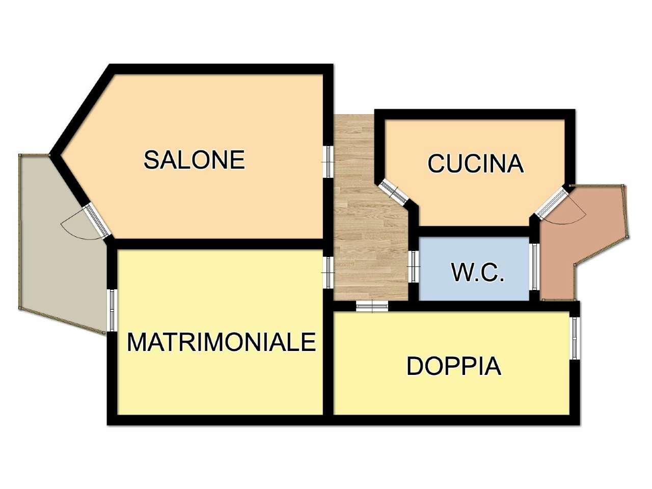 Appartamento in vendita a Cesena, 3 locali, prezzo € 114.000   CambioCasa.it