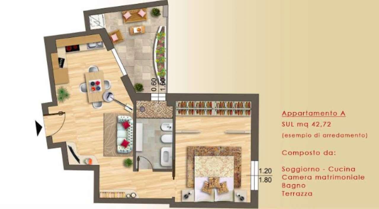 Appartamento parzialmente arredato in vendita Rif. 6611346