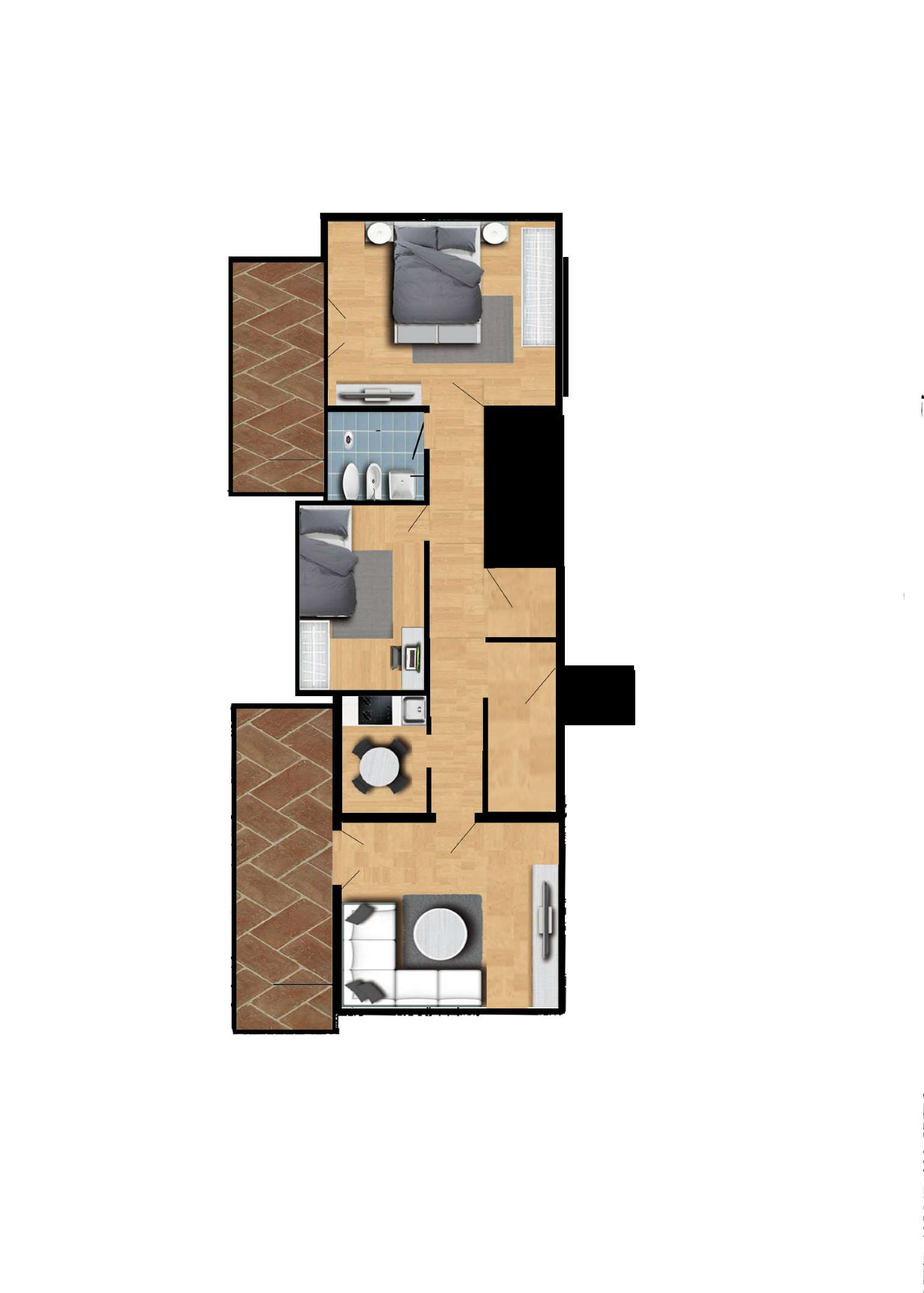 Appartamento 100mq + Garage