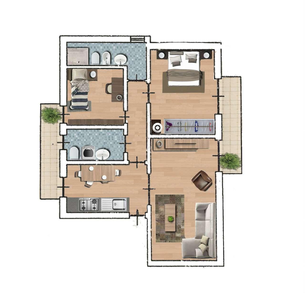 Elegante Appartamento 3 Vani