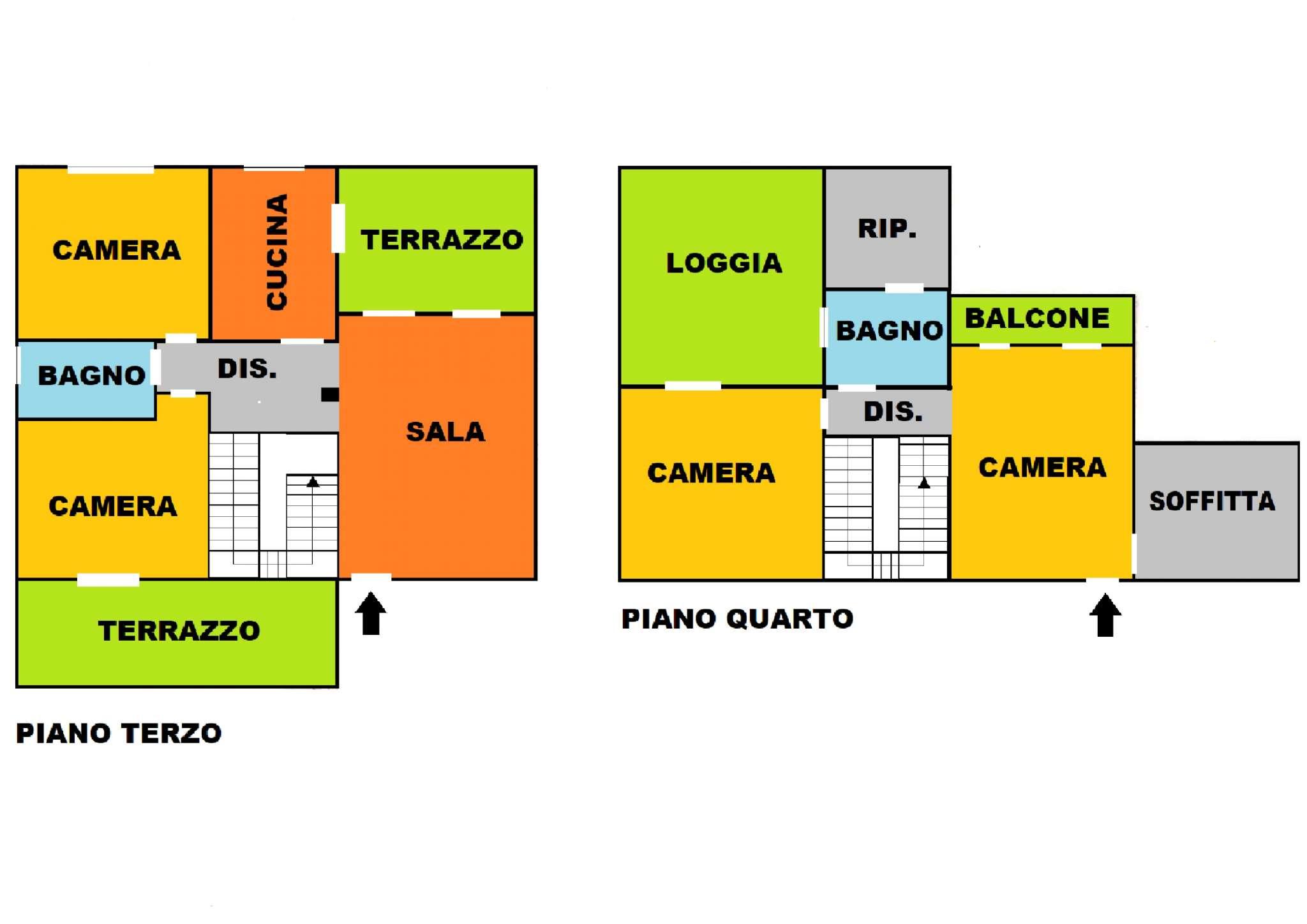 Attico / Mansarda in vendita a Modena, 5 locali, prezzo € 500.000 | PortaleAgenzieImmobiliari.it